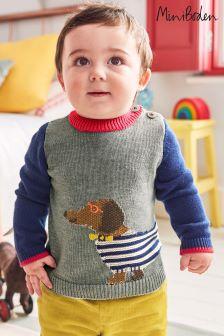 Boden Grey Fun Knitted Jumper