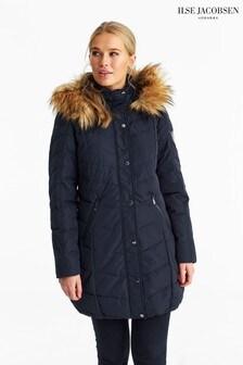 Ilse Jacobsen Navy Down Parka Coat