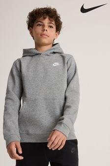 Nike Grey Club Overhead Hoodie