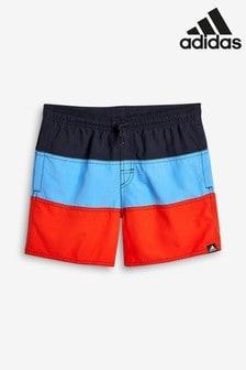 adidas Navy Colourblock Swim Short