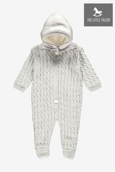 Серый вязаный комбинезон для малышей The Little Tailor