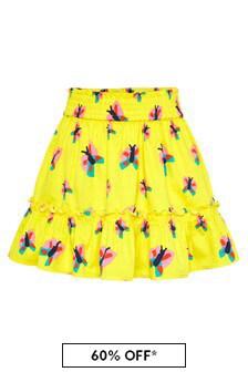 Stella McCartney Kids Girls Yellow Cotton Skirt