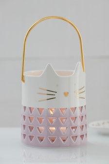 Laterne im Katzendesign