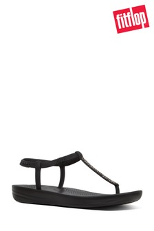 FitFlop™ Black Sparkle Bella iQushion™ Sandal