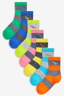Набор из семи пар полосатых носков (Подростки)