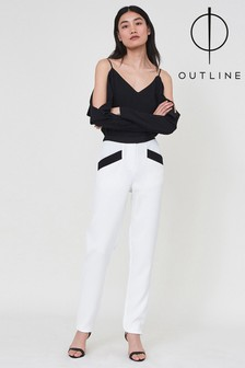 Outline White Seymour Trouser