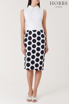 Hobbs White Lorna Skirt