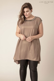 Live Unlimited Bronze Foiled Tunic With Sequin