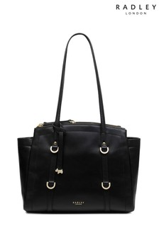 Radley Black Shoulder Compartment Medium Tote