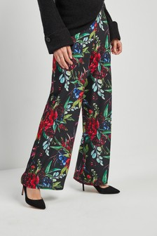 Print Wide Leg Trousers