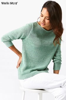 White Stuff Green Villa Jumper