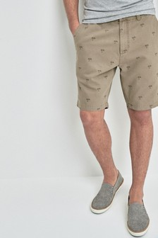 Palm Print Chino Shorts