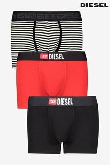 Набор из 3 брифов-боксеров (черные/красные/в полоску) Diesel®