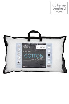 Set of 2 Catherine Lansfield Luxury Cotton Pillows
