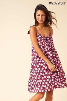 White Stuff Pink Summer Apples Beach Dress