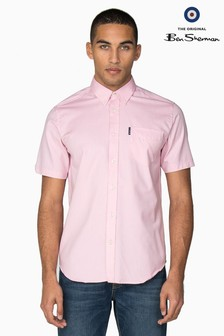 Ben Sherman® Pink Short Sleeve Oxford Shirt