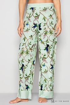 B by Ted Baker Green Highgrove Print Pant