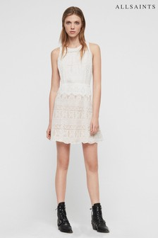 AllSaints White Melia Lace Dress