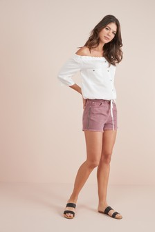 Side Tape Detail Shorts