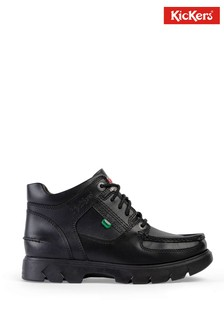 Kickers® Black Lennon Mid Leather Boot