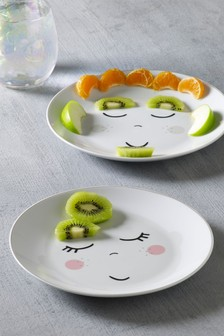 Set of 2 Kids Fun Face Plates