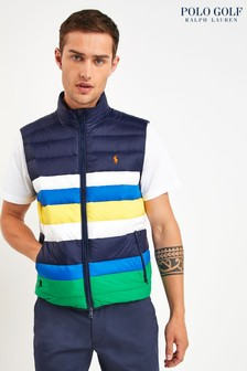 Polo Golf by Ralph Lauren Navy Multi Stripe Padded Gilet
