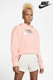 Nike Metallic Shine Cropped Hoody