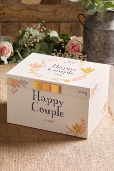 Floral Wedding Keepsake Box
