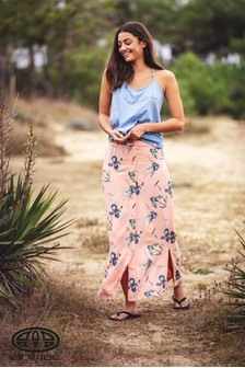 Animal Pink Daydreamers Maxi Skirt