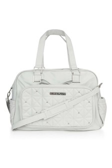 Baby Grey Changing Bag With Dummy Holder