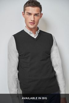 Sleeveless V-Neck Jumper
