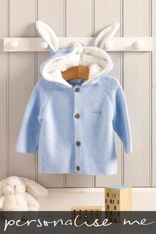Personalised Blue Bunny Cardigan