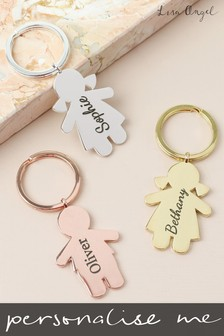 Personalised Boy Girl Keyring by Lisa Angel