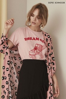 "Розовая футболка с надписью ""Dream Girl"" Sofie Schnoor"