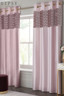 Lipsy Pleated Wave Eyelet Curtains