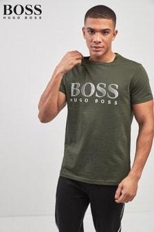 BOSS Khaki Logo T-Shirt