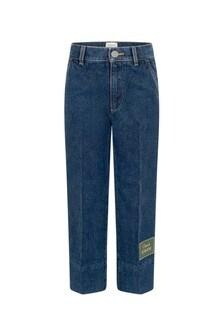 GUCCI Kids Boys Dark Blue Denim Jeans
