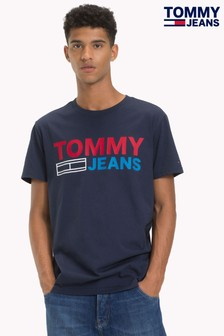 Tommy Jeans Blue Essential Logo Tee