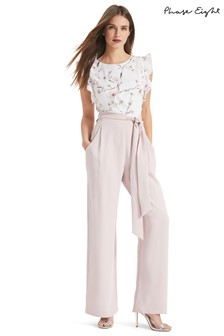 0733d45940e1 Phase Eight White Victoriana Floral Jumpsuit