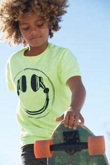 Футболка с принтом наушников (3-16 лет)