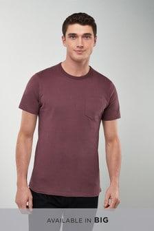 Мягкая футболка с карманом