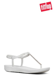 FitFlop™ White Sparkle Bella iQushion™ Sandal