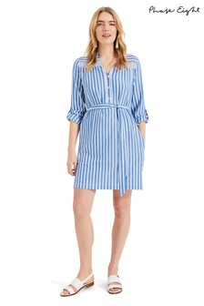 Phase Eight Blue Philomena Shirt Dress