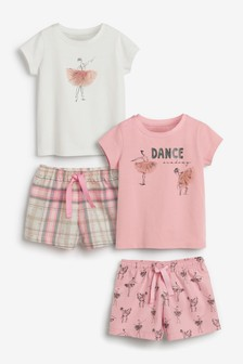 2 Pack Ballerina Short Pyjamas (9mths-12yrs)