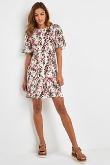 Blurred Print Dress