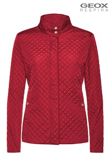 Geox Red W Arethea Jacket