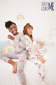 2 Pack Unicorn Snuggle Pyjamas (3-16yrs)