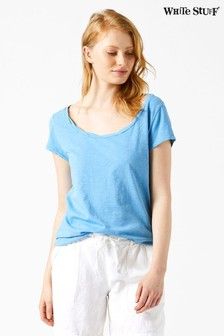 White Stuff Blue Destination Jersey Tee