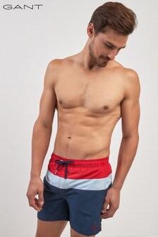 GANT Red Color Block Swim Shorts