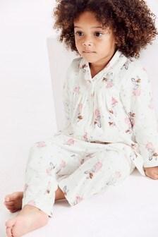 Традиционный текстильный пижамный комплект на пуговицах с принтом фей (9 мес. - 8 лет)